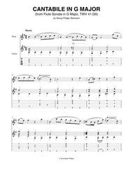 Cantabile in G Major (from Flute Sonata in G Major, TWV 41-G9)