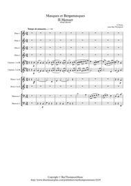 Faure: Masques et Bergamasques Op.112 Mvt. II Menuet - wind dectet
