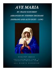 Ave Maria (Duet for Soprano and Alto - Low Key)