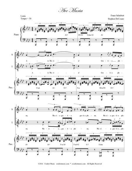 Ave Maria (Duet for Soprano and Tenor - Medium Key)