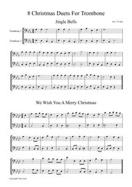 8 Christmas Duets For Trombone