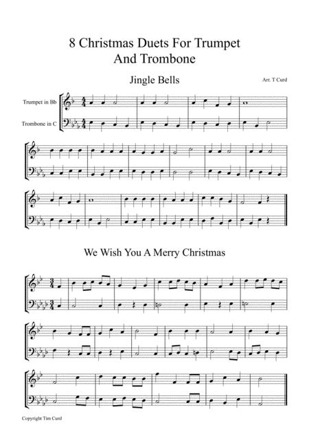 Christmas Duets.Download 8 Christmas Duets For Trumpet And Trombone Sheet