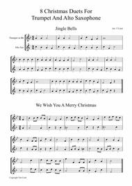8 Christmas Duets For Trumpet and Alto Saxophone
