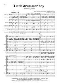 The little drummer boy - Christmas Bolero - Clarinet Quintet