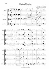 Cantate Domino by Pitoni arranged for flute quartet (2 flutes, alto flute, bass flute)