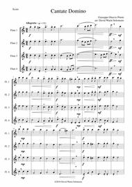 Cantate Domino by Pitoni arranged for flute quartet (4 concert flutes)