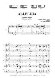 ALLELUJA (Exsultate, jubilate K.165) W.A.Mozart - Arr. for SATB Choir and Organ - Parti staccate