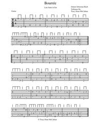 Bourree Lute Suite in Em For Classical Guitar Tablature