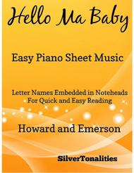 Hello Ma Baby Easy Piano Sheet Music