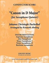 Pachelbel - Canon in D Major (for Saxophone Quintet SATTB)