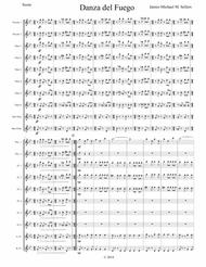 Danza del Fuego (for Flute Choir with Piccolo duet)