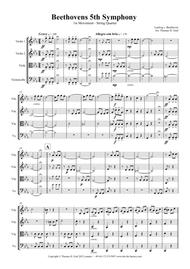 Beethovens 5th Symphony - 1st Movement - String Quartet