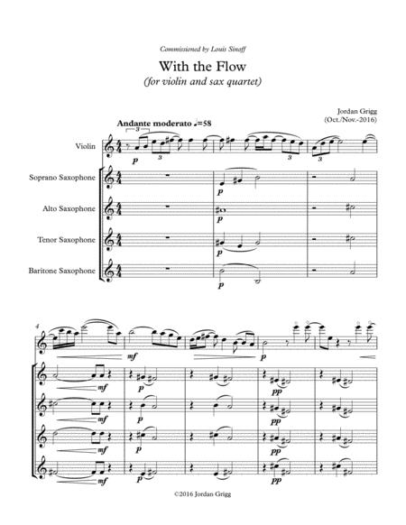 With the Flow (for violin and sax quartet)