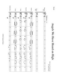 Angels We Have Heard on High - beginning string orchestra and SATB choir
