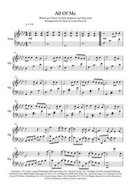 Download All Of Me - Harp Solo Sheet Music By John Legend - Sheet