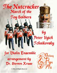 March of the Toy Soldiers from the Nutcracker for Mixed-Level Violin Ensemble