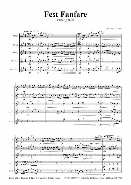 Fest Fanfare - Classical Festive Fanfare - Opener - Flute Quintet