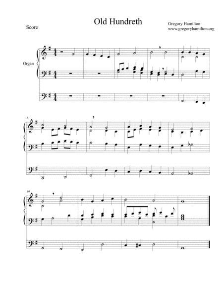Old Hundreth - Alternate Harmonization for Organ