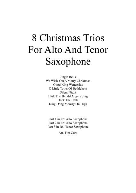 8 Christmas Trios For Alto and Tenor Saxophone