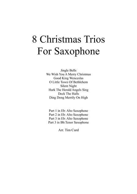 8 Christmas Trios For Saxophone