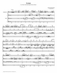 Prelude 19 from Well-Tempered Clavier, Book 1 (Euphonium-Tuba Quartet)