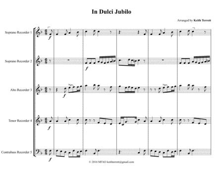 In Dulce Jubilo for Recorder Quintet