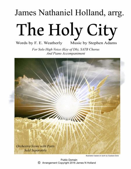 The Holy City for High Voice, SATB Chorus and Piano