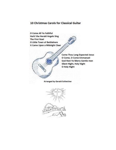 Ten Christmas Carols for Classical Guitar