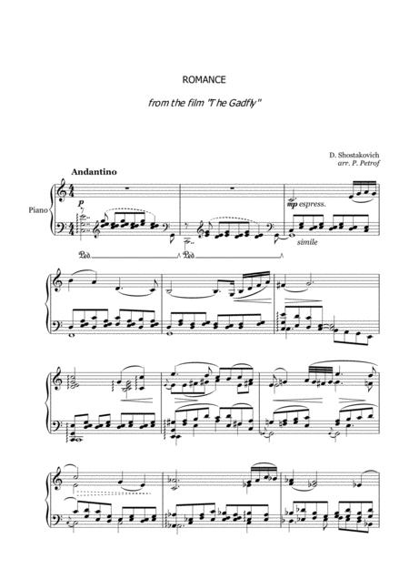 D. Shostakovich - ROMANCE  from the film ''The Gadfly'' for piano