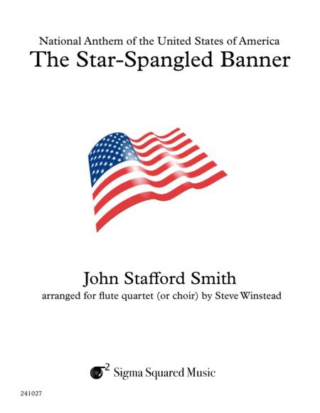 The Star-Spangled Banner for Flute Quartet or Choir
