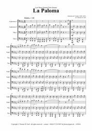 La Paloma - Spanish Habanera - Low Brass Quartet/Tuba Quartet
