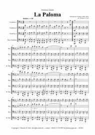 La Paloma - Spanish Habanera - Trombone Quartet