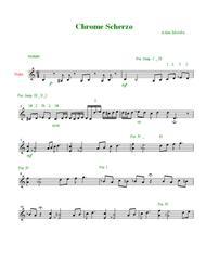 Download Chrome Scherzo ( Chromatic Fantasy ) For Violin Solo With