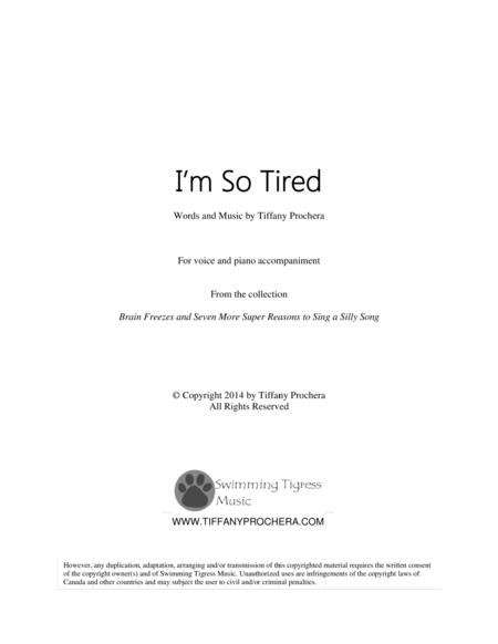 I'm So Tired - From Brain Freezes and Seven More Super Reasons To Sing A SIlly Song