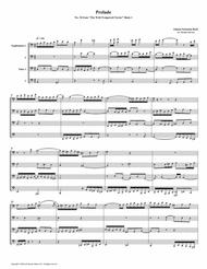 Prelude 18 from Well-Tempered Clavier, Book 1 (Euphonium-Tuba Quartet)