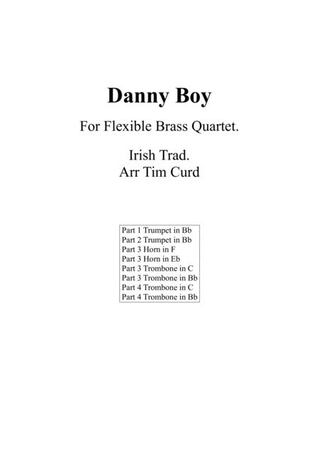 Danny Boy For Flexible Brass Quartet