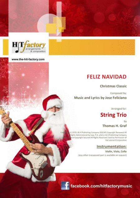 Feliz Navidad - Christmas Classic - String Trio