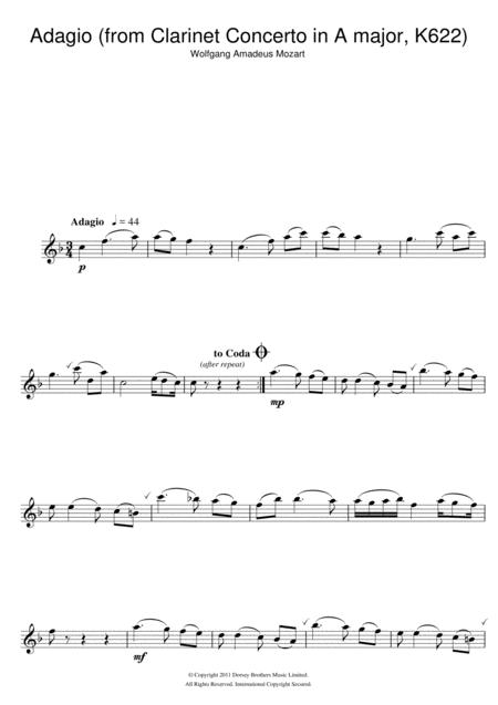 Slow Movement Theme (from Clarinet Concerto K622)