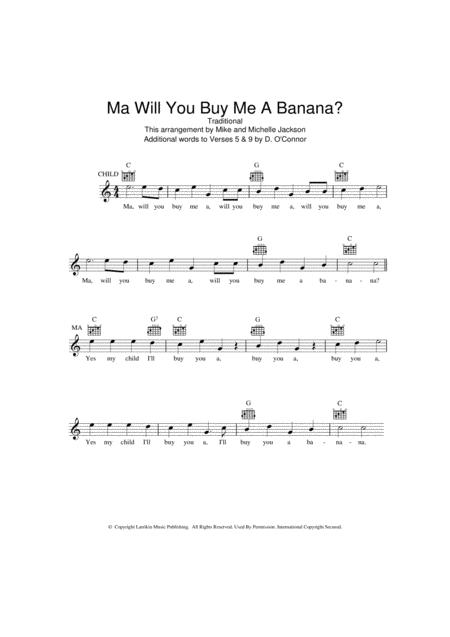 Ma Will You Buy Me A Banana?