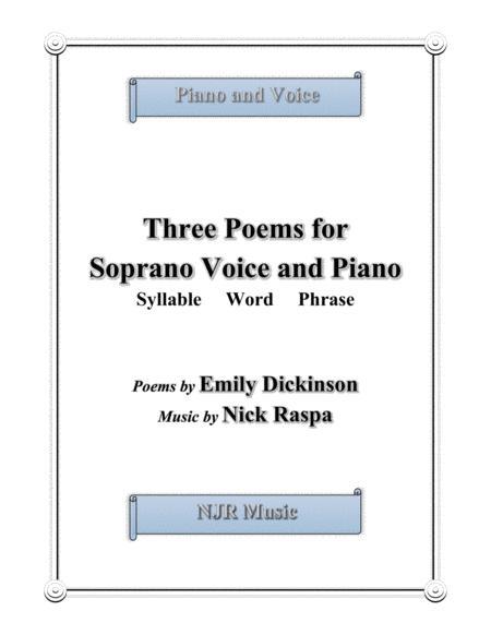 Three Poems for Soprano Voice & Piano