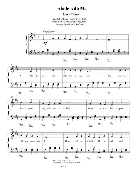 Download Abide With Me Easy Piano Sheet Music By Whnk Sheet