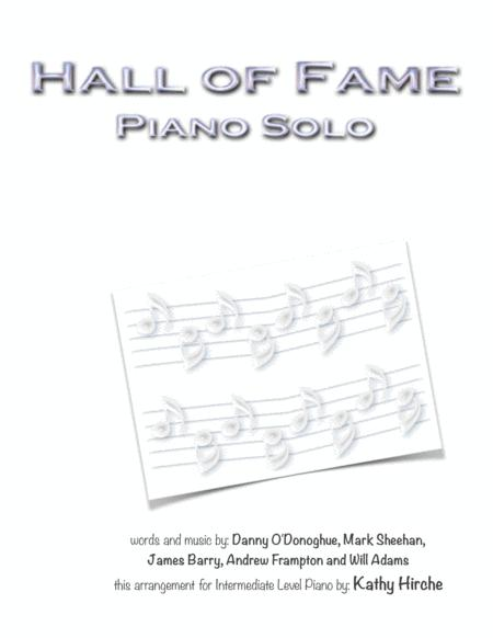 Hall Of Fame - Piano Solo