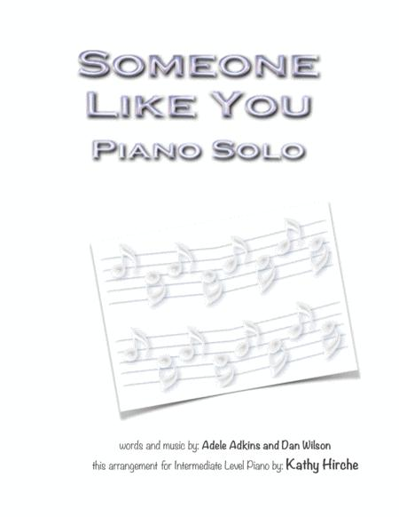 Download Someone Like You Piano Solo Sheet Music By Adele Sheet