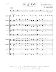 Sleigh Ride for Ukulele Trio / Ensemble / Band / Orchestra with optional Vocals
