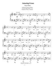 Amazing Grace Easy Piano