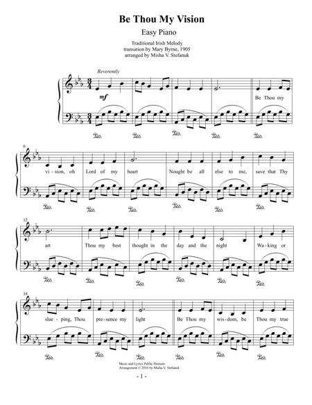 Download Be Thou My Vision Easy Piano Sheet Music By Traditional