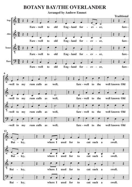 Botany Bay The Overlander Medley A Cappella