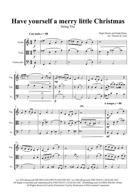 Have yourself a merry little Christmas from MEET ME IN ST. LOUIS - String Trio