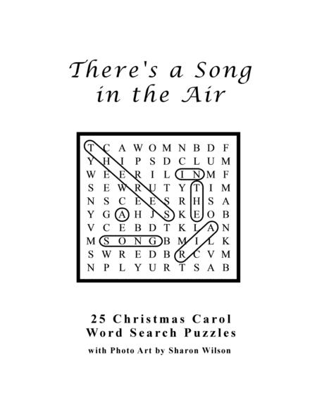 Christmas Carol Brain Teasers.Preview There S A Song In The Air 25 Christmas Carol Word
