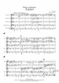 Fauré: Pelleas et Melisande Op.78 III. Sicilienne - clarinet quintet